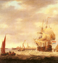 Webster George Merchant Ship And Fishing Vessels Off The Dutch Coast