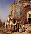 Weeks Edwin Old Blue Tiled Mosque Outside Of Delhi India