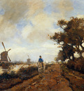 Weissenbruch Jan Horseman on a tow path Sun