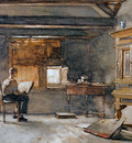 Weissenbruch Jan The artists studio Sun