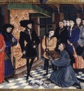 Weyden Miniature from the first page of the Chroniques de Hainaut