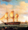 MPA Thomas Whitcomb Departure of the whaler, Britainnia from Sidney Cove, 1798 sqs