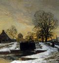 Wijsmuller Hilderbrand At the sluice in winter Sun