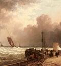 Wilson John Jock Shipping Approaching The Harbour Mouth In A Rough Sea