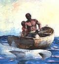 homer shark fishing