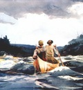 homer canoe in the rapids