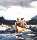 homer canoe in the rapids