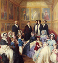 Winterhalter Franz Xavier Queen Victoria and Prince Albert with the Family of King Louis Philippe