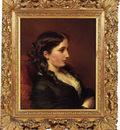 Winterhalter Franz Xavier Study of a Girl in Profile
