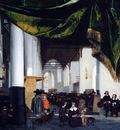 Witte de Emanuel Interior of the Oude Kerk Sun
