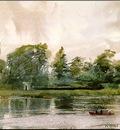Zorn Landskapsstudie fran Richmond  1882, akvarell Watercol