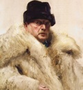 Zorn Self portrait in a wolfskin