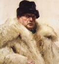 Zorn Self portrait in a wolfskin