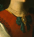Zurbaran Saint Lucy, detlalj 1, c  1625 1630, NG Washington