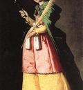 Zurbaran St  Apolonia, 113x66cm, Louvre