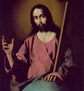 Zurbaran The Savior Blessing, 1638, 99x71 cm, Prado