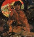 Zwart de Willem Girl with Japanes umbrella Sun