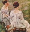 borisov musatov two ladies study for harmony 1899