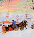 Kustodiev Boris The shrovetide Sun