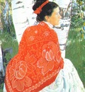 kustodiev the artists wife