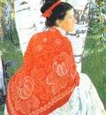 kustodiev the artists wife
