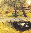 levitan small bridge, savvinskaia village