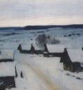 levitan village, winter 1880s