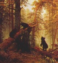 shishkin morning in a pine forest