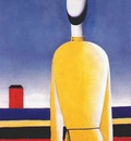 malevich complex premonition half figure in yellow shirt 1928