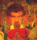 malevich study for a fresco self portrait
