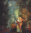 somov harlequin and lady