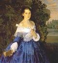 somov lady in blue the artist yelizaveta martynova 1897