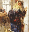 tkachev the postgirl in winter early 1950s