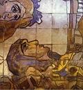 Tile panel on the Hotel Methropol  Detail