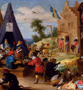 Teniers David A Festival Of Monkeys