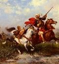 Washington Georges Combats De Cavaliers Arabes