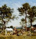 Washington Georges Setting Up Camp
