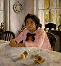 girl with peaches portrait of v s mamontova