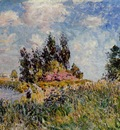 Landscape   The Banks of the Loing at Saint Mammes