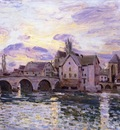 The Bridge at Moret at Sunset