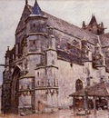 The Church at Moret Rainy Weather Morning