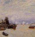 The Seine View from the Quay de Pont du Jour
