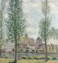 View of Moret sur Loing through the Trees