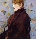 autumn portait of mery laurent in a brown fur cape