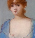 young woman among in a negligee
