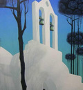 Church Tower Original Painting