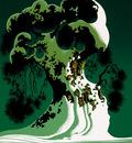 snow covered bonsai