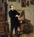 autoritratto mentre osserva un dipinto