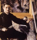 self portrait with easel 1879