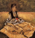 woman seated on the grass  fragment
